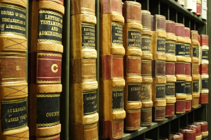 shelved law books