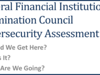 FFIEC Cybersecurity Assessment Tool Talk